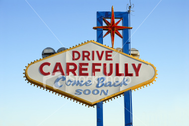 Drive Carefully - Come Back Soon Stock Image