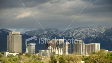 Salt Lake City, Utah Skyline Stock Image