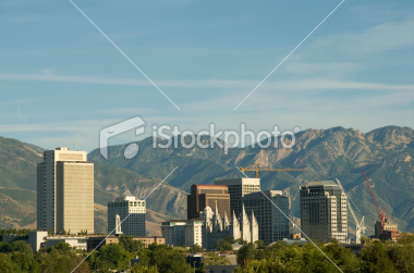 Downtown Salt Lake City, Utah Skyline Stock Image