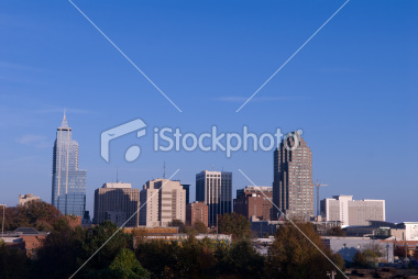 Raleigh, North Carolina City Skyline Stock Image