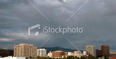 Downtown Boise, Idaho Skyline Stock Image