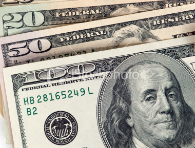 Stock Image of a 100 Dollar Bill